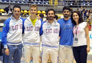 Matteo, Lorenzo, Emilio, Giacomo e Rosanna (foto Trifiletti/Bizzi)
