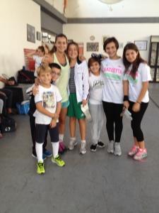 Rossella con le giovani promesse del CUS Catania