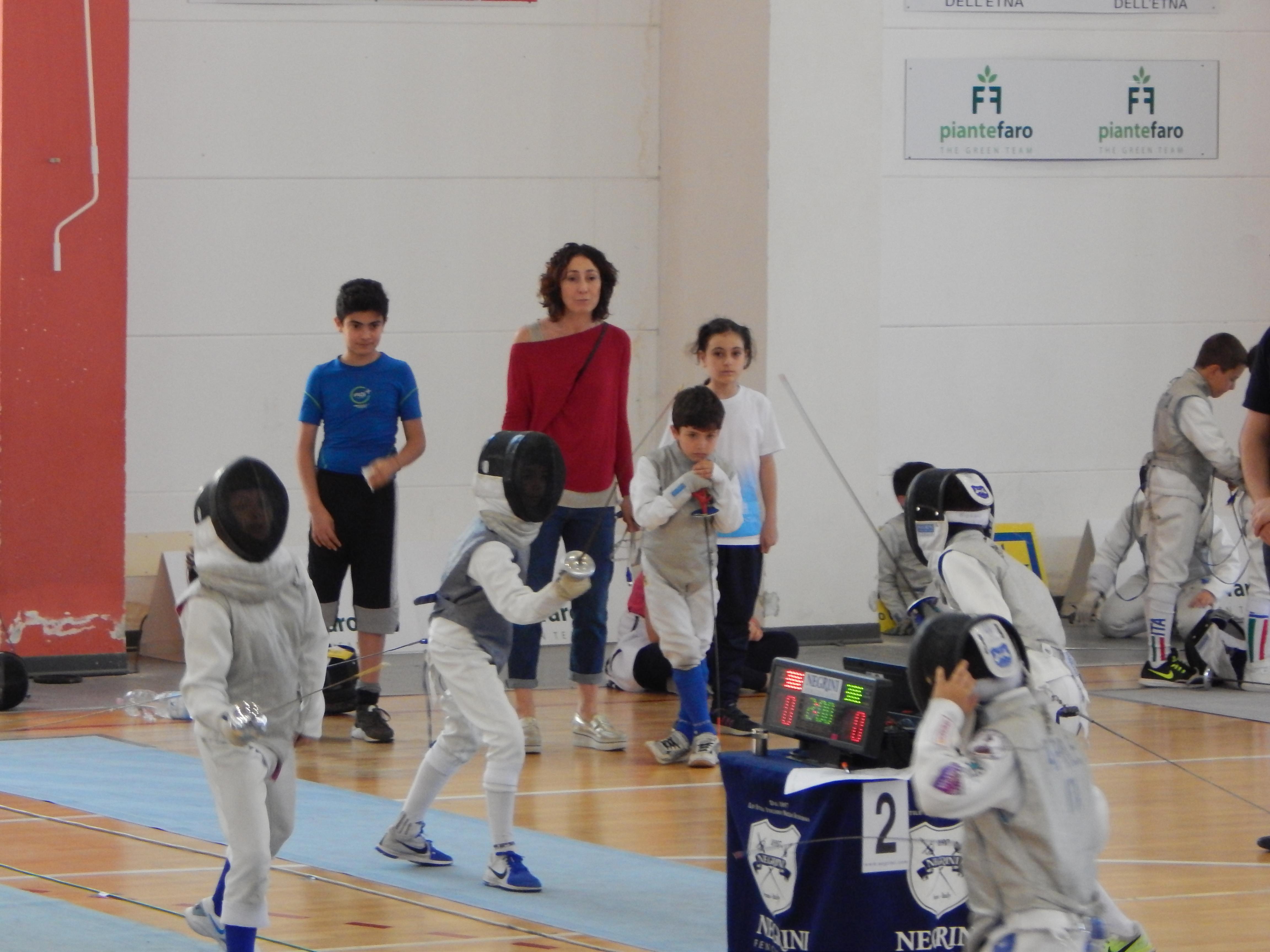 Atleti in azione_Matilde,Michele_LorenzoeRosanna sullo sfondo